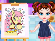 درس الرسم الطفلة تلور