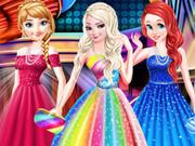 فستان موضة حفلة موسيقية لأميرات ديزني