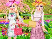 الاخوات المجمدة الربيع يوم في الخارج