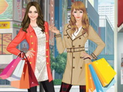 اثنين فتيات ستايل التسوق