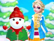 الاميرة السا ورجل الثلج سنو مان