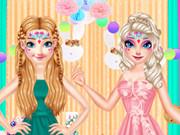 رسم وجه الأخت الأميرات في عيد الفصح