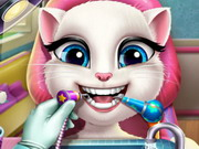 علاج أسنان أنجيلا القطة المتكلمة
