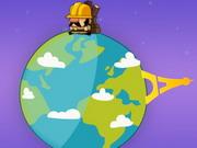 السفر حول العالم في 2 ثانية