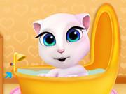 وقت الإستحمام: الطفل أنجيلا: تلبيسه واطعامه