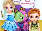 العبي مع صديقاتك صبايا: baby elsa and anna playtime