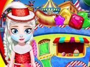 بيع الحلويات اللذيذة بيبي السا: baby elsa selling candy day