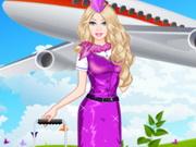 تلبيس باربي ملابس مضيفة الطيران