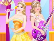 باربي ذا برنسس اند ذا بوب ستار: barbie and popstar dress up
