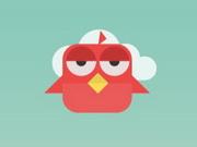 الطائر الأحمر الشجاع