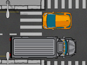 رجل المرور والسيارات في الشارع: car crossing