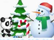 دب الباندا المقاتل: christmas panda run