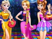 تلبيس بنات ذاهبات الى الحفلة الراقصة