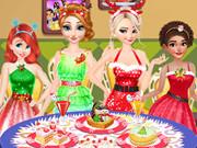 كيفية تزيين طاولة العشاء: disney princesses christmas dinner