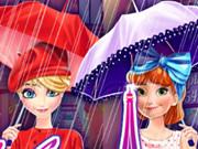 آنا وإلسا التسوق في باريس الشتاء