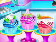 طبخ كب كيك حقيقي: elsa easter cupcake cooking