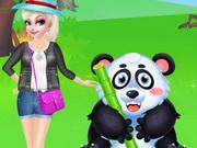 تلبيس في حديقة الحيوان: elsa happy time in zoo