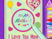 بطاقات حب عيد الام: elsa mother's day card