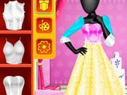 ستوديو الموضة تصميم وتلبيس فستان ملكة الثلج