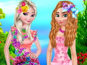 تلبيس زهرة البنات: flower princess dressup