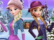 تلبيس ملابس البرد والشتاء: frozen winter dress up