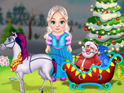 البنات الحلوة جدا: little elsa clean christmas carriage