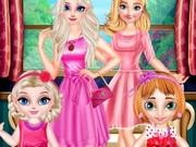 تلبيس اطفال توائم صغار جدا: little princess and adult princess