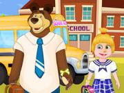 ماشا وبير الذهاب الى المدرسة