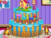 تزيين كيك عيد ميلاد الطفلة ماشا