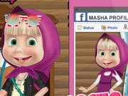 تلبيس ماشا على فيس بوك