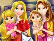 شارع التسوق وفتح المحلات: mommy princess go shopping