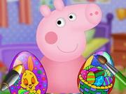الخنزير الصغير في عيد الفصح: peppa pig easter egg