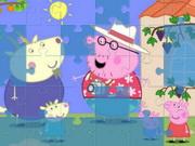 ذكاء والغاز الخنزير بيبا: peppa pig jigsaw