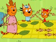 عائلة القطط - Picnic With Cat Family