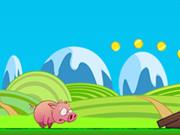الخنزير البري: pink running pig