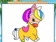 تلوين صعبة للكبار: pony coloring book 4
