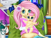 ماي ليتل بوني رعاية الطفل النونو: pony fluttershy baby birth