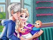 إلسا الحامل: ميلاد التوأم ورعايتهم