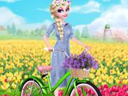 تلبيس الفتاة الرقيقة: princess elsa spring