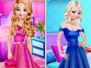 تلبيس فساتين باللون البنفسجي والوردي: princess favorite color