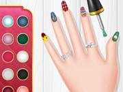 صالونات تزيين الاظافر: princess spring nail design