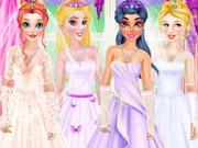تلبيس فستان زفاف وطرحة افراح للعروسة: princesses buy wedding dresses