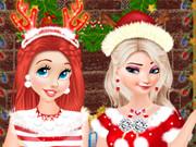 فوتو البوم الكريسماس: princesses christmas photos album