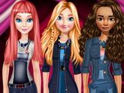 البنات تلبيس ستايل الدنيم: princesses denim style fashion