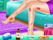 تنظيف بشرة وتلبيس الاميرة ربانزل من ديزني: rapunzel leg model