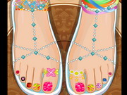 تلوين الاظافر للاميرة الجميلة: rapunzel pedicure toes