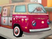 محل تصليح السيارات: اصلاح شاحنة الايس كريم