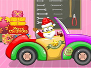 تصليح سيارات: santa minion christmas car
