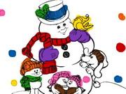 رجل الثلج الشرير: snowman coloring book
