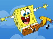 حماية سبونج بوب من السقوط: sponge bob falling